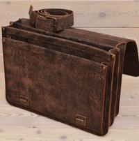 Крупный портфель из шикарной состаренной кожи