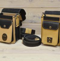 Двухцветная сумка с поясным ремнем
