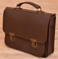 Классический коричневый портфель