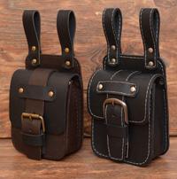 Кожаные сумки-болтанки