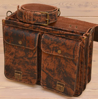 Портфель ручной работы из состаренной кожи