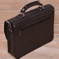 Компактный портфель из состаренной кожи
