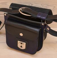 Черно - синяя женская сумочка