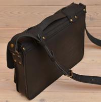 Оригинальная черная кожаная сумка