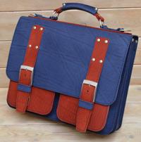 Яркий двухцветный портфель