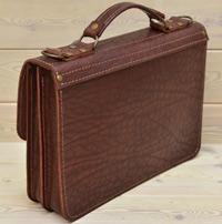Оригинальный портфель из шикарной кожи