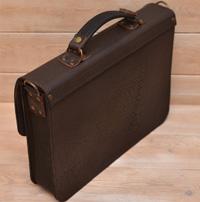 Двухцветный портфель с усиленной боковиной