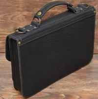 Классический черный мужской портфель