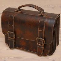 Мужской портфель из состаренной кожи