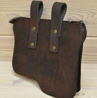 Оригинальная поясная сумка из состаренной кожи