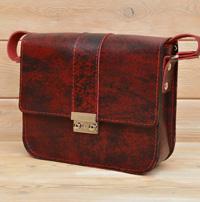 Лаконичная сумочка из состаренной кожи