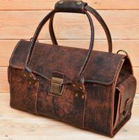 Дорожная сумка из состаренной кожи