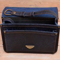 Женская сумочка из состаренной синей кожи