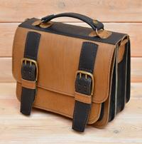 Оригинальная двухцветная сумка на 3 отделения