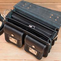 Оригинальная кожаная сумка на 3 отделения