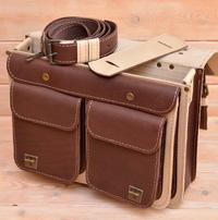 Оригинальный двухцветный портфель из толстой кожи