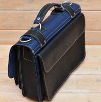 Оригинальный сине-черный портфель