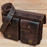 Классический портфель из состаренной кожи