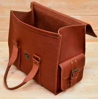 Дорожная сумка из коньячной кожи