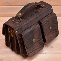 Оригинальная сумка из состаренной кожи