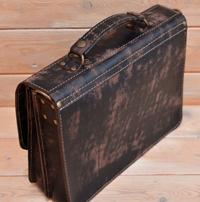 Портфель на 2 отделения из состаренной кожи