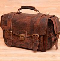 Оригинальный вместительный портфель ручной работы