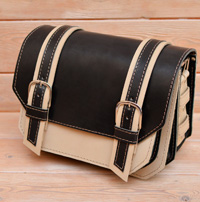 Контрастная женская кожаная сумка