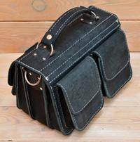Оригинальная сумка их состаренной черной кожи