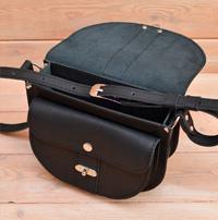Черная женская кожаная сумочка