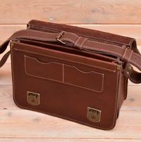 Оригинальная кожаная коричневая сумка
