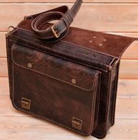 Мужской портфель из толстой состаренной кожи