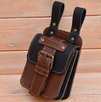 Оригинальная двухцветная сумка-болтанка