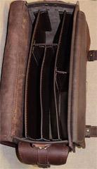 кожаный мужской портфель на заказ это практично - внутренние перегородки