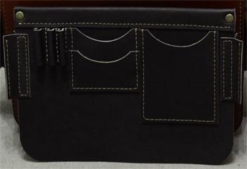 кожаный мужской портфель на заказ это практично - набор внутренних кармашков