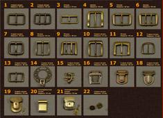 фурнитура для кожаных портфелей в наличии